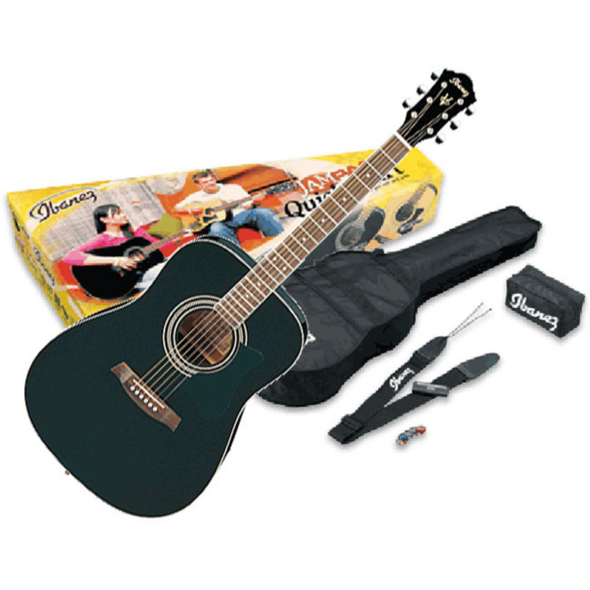 Discontinued Ibanez V50 Acoustic Guitar Jampack In Black At Gear4music