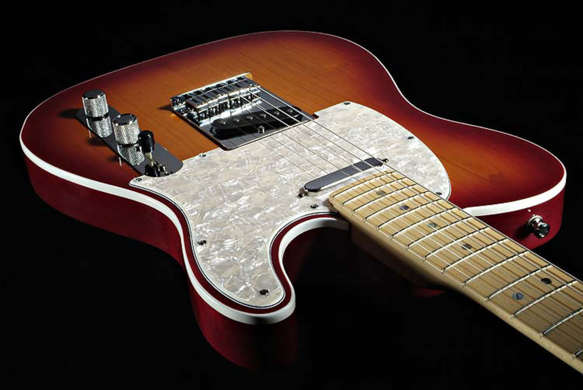 fender american deluxe telecaster maple neck cherry sunburst at gear4music. Black Bedroom Furniture Sets. Home Design Ideas
