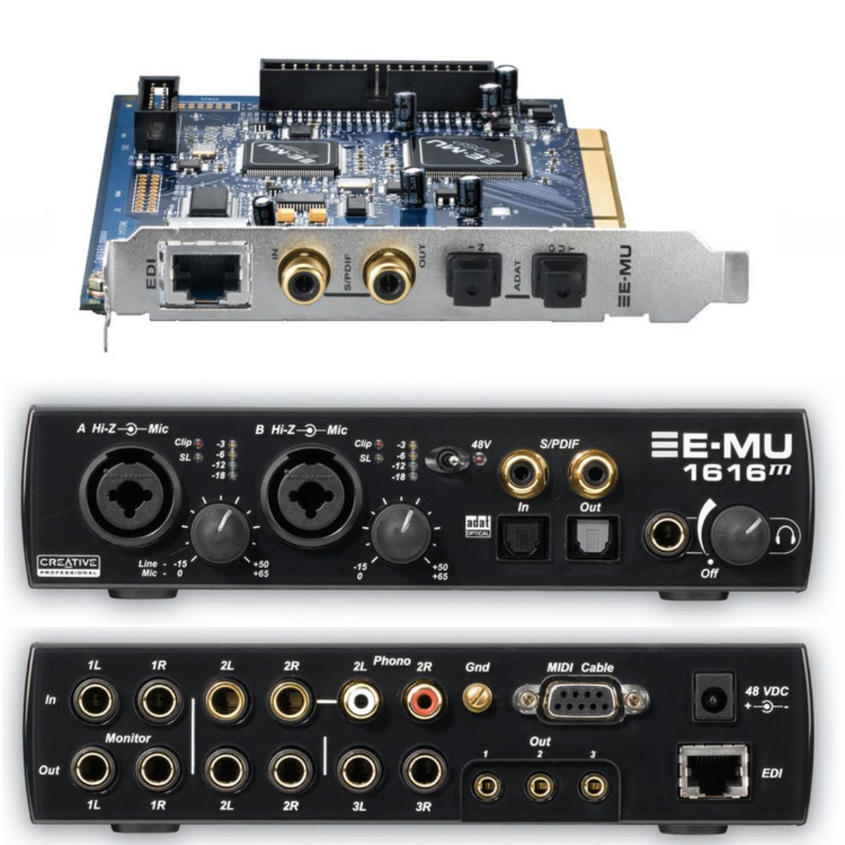 E-MU 1616M PCIE DRIVER FOR WINDOWS 7