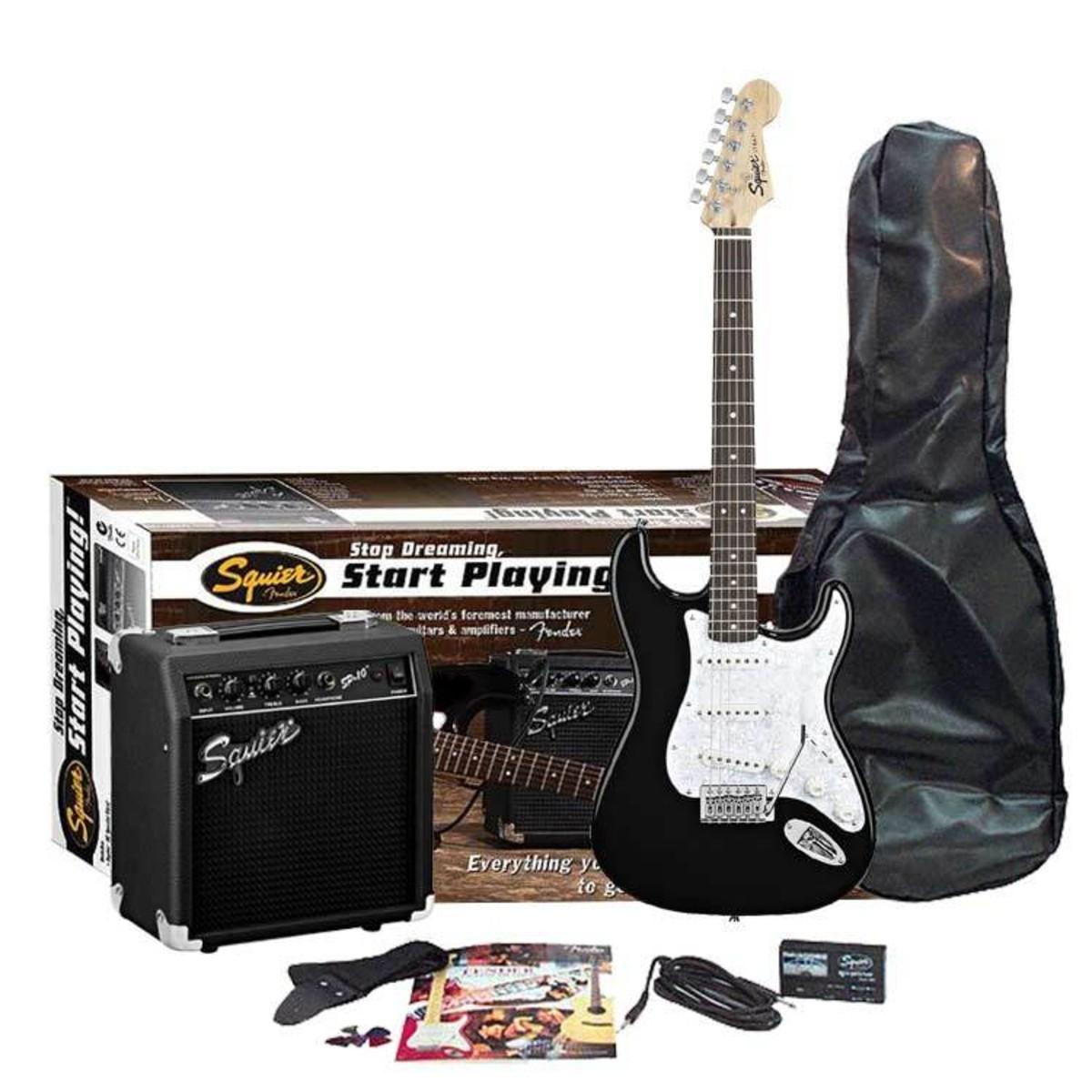Auslaufmodell - Squier Fender SE Special Strat SP10 Amp Pack schwarz ...