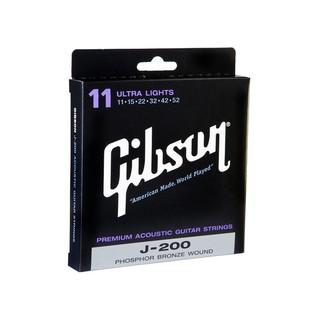 Gibson J-200 Phosphor Bronze Guitar Strings Ultra Lights 11-52