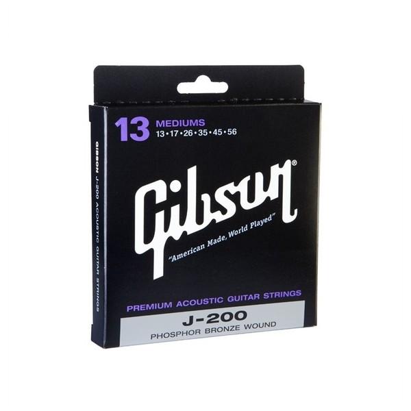 Gibson J-200 Phosphor Bronze Acoustic Guitar Strings, Medium 13-56