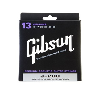 Gibson J-200 Phosphor Bronze Acoustic Guitar Strings, Medium 13-56