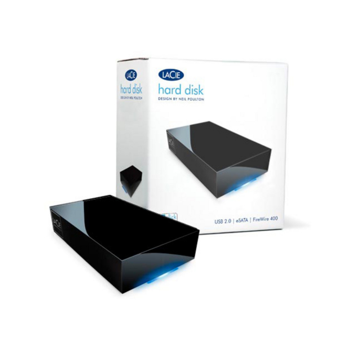 Disc 1tb External Hard Drive By Lacie Esata Firewire 400 Usb 20