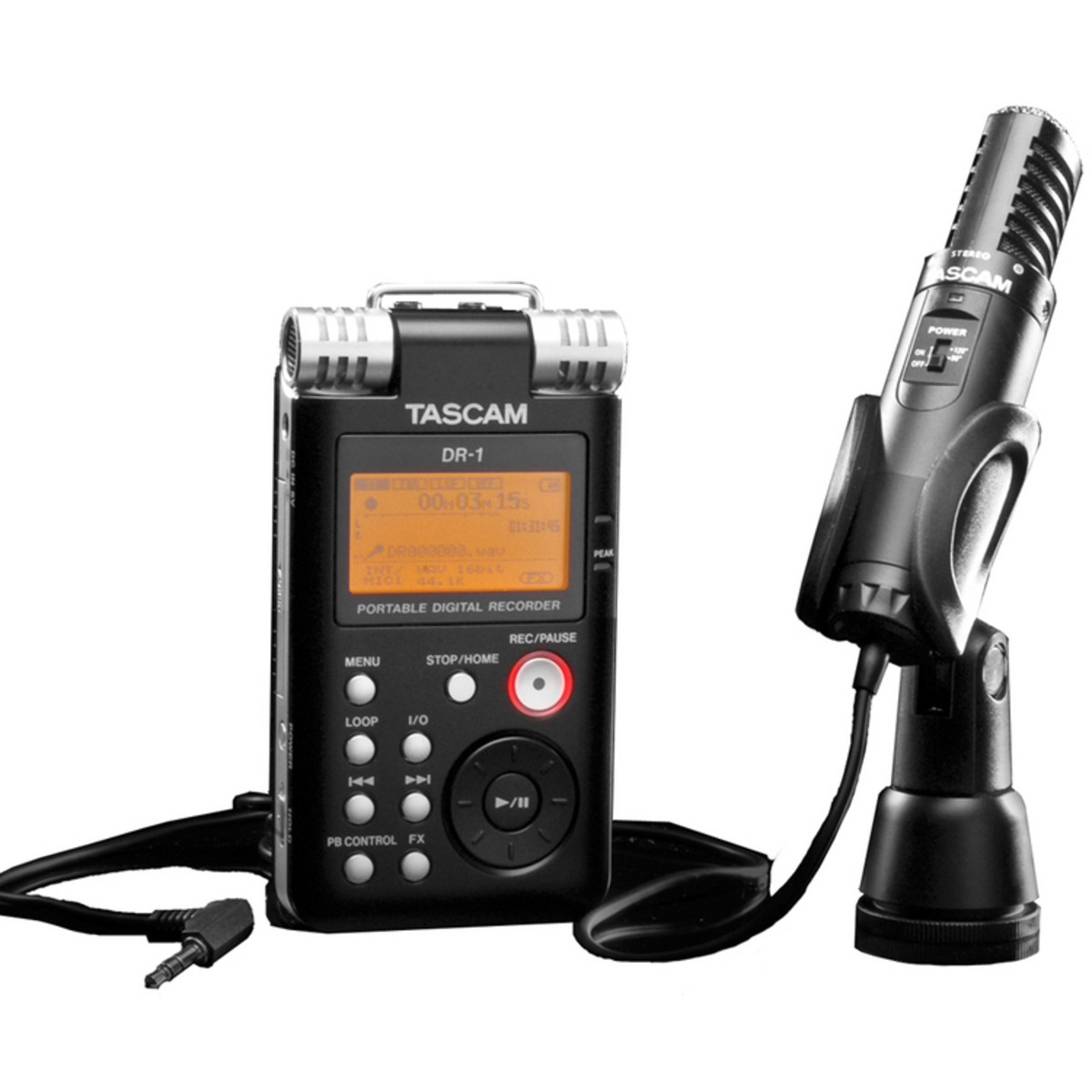 tascam dr1 portable field recorder field pack at gear4music. Black Bedroom Furniture Sets. Home Design Ideas