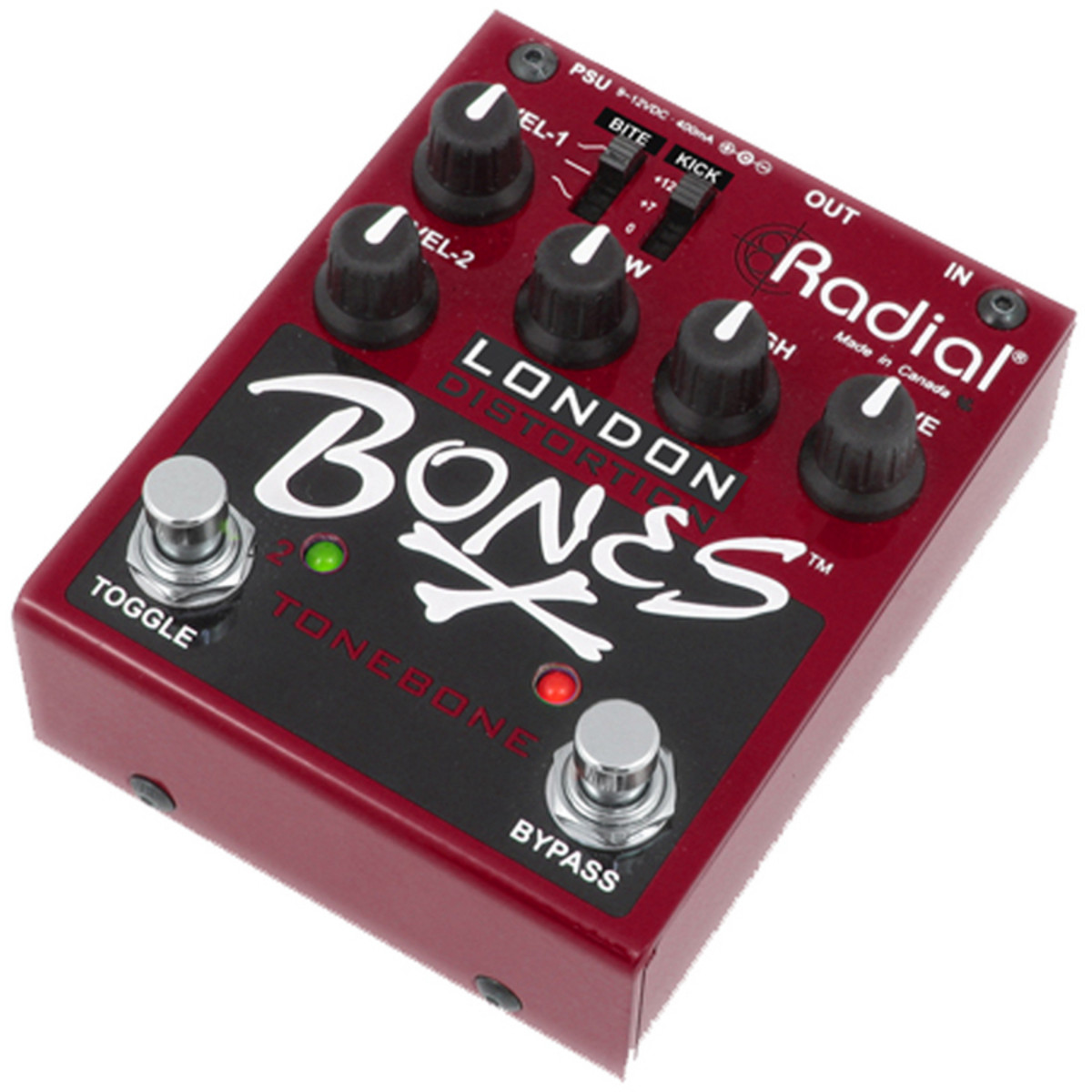 Radial Knochen London Dual Distortion bei Gear4music