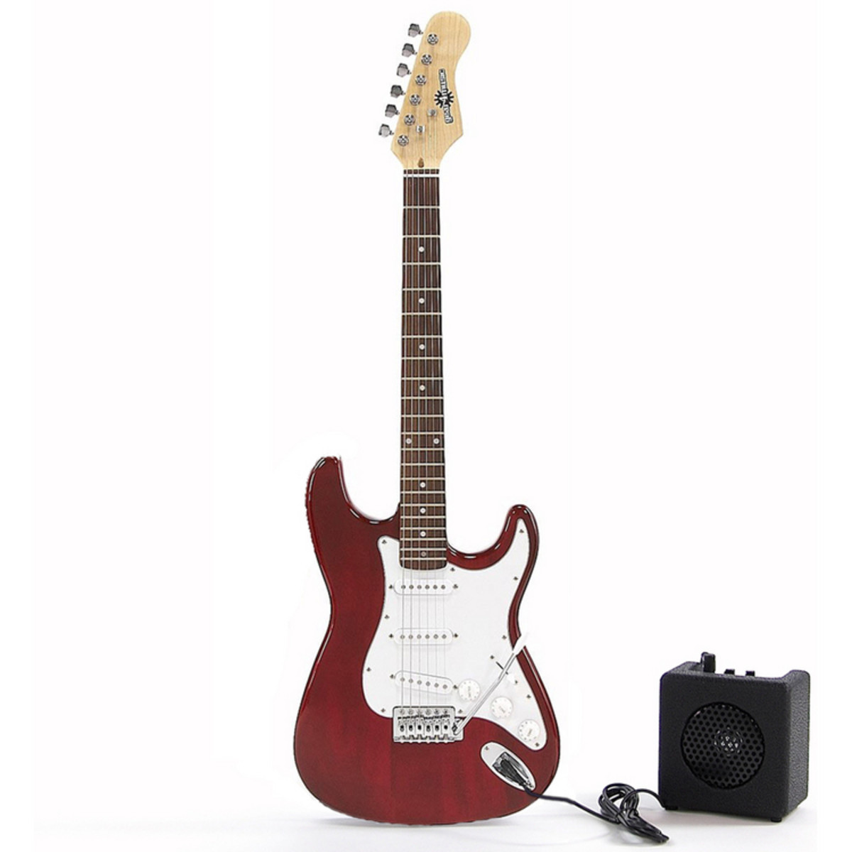 electric st guitar mini amp wine red gear4music. Black Bedroom Furniture Sets. Home Design Ideas