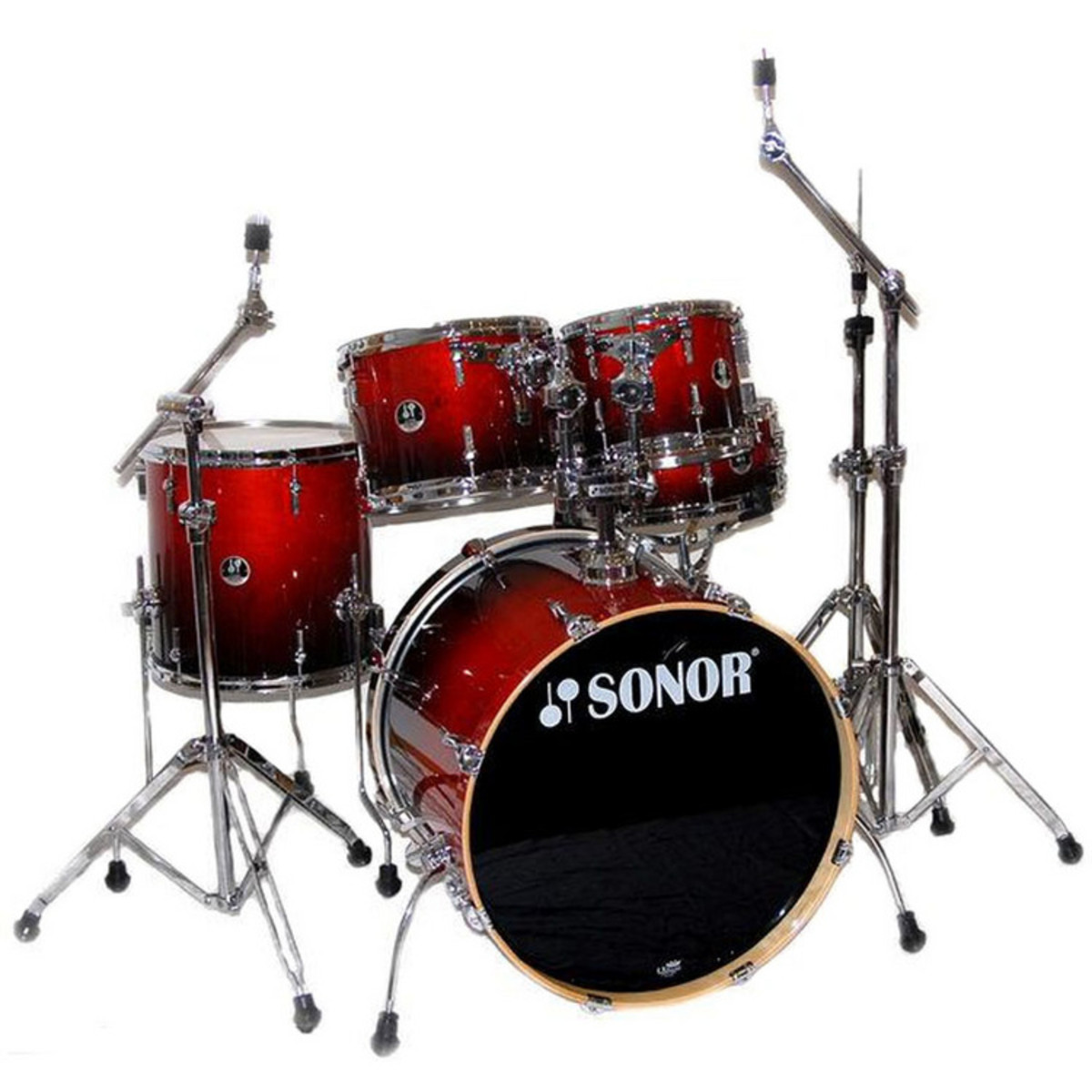 82164f5380de Sonor F2007 Stage 2 Drum Kit Amber Fade at Gear4music