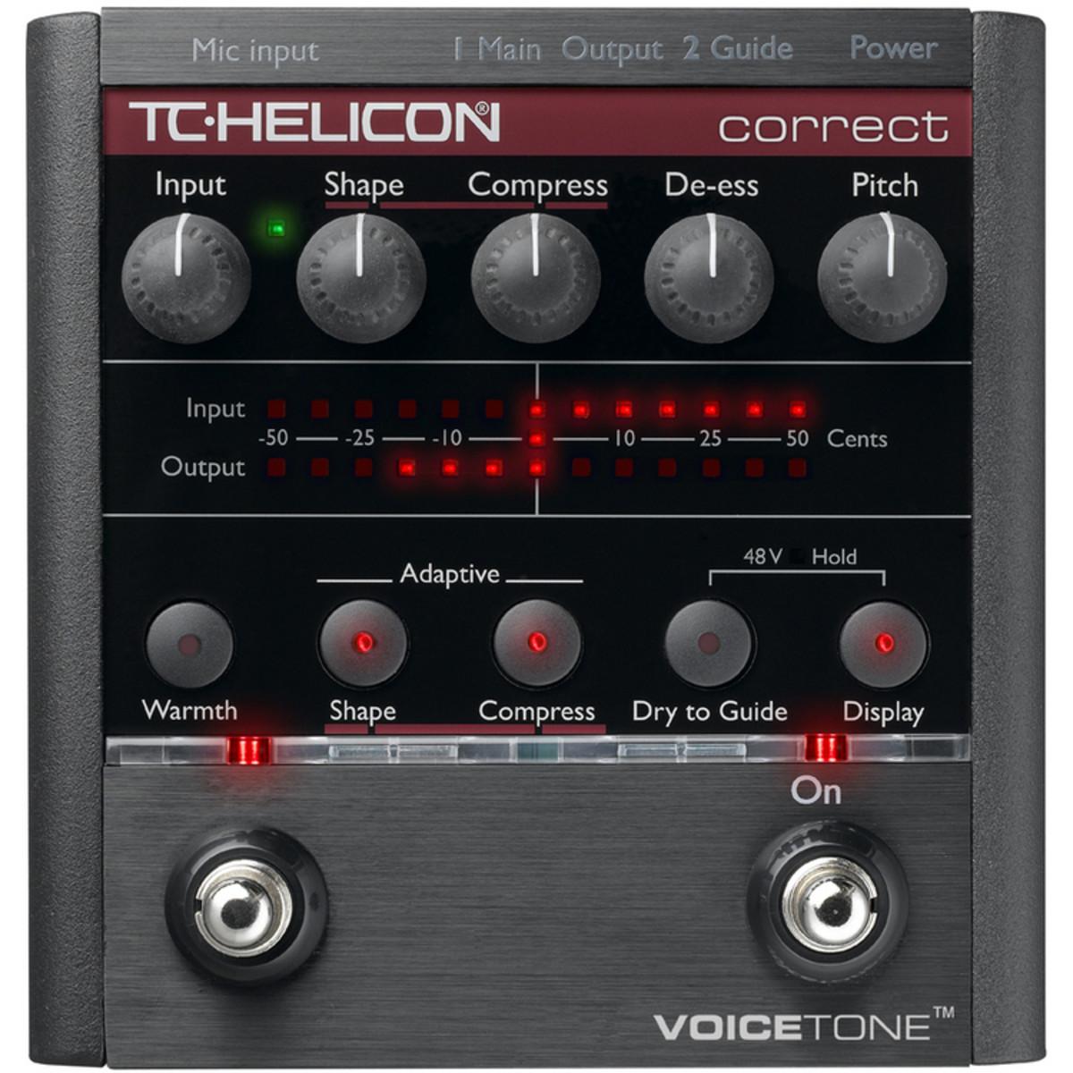 Tc Helicon Voicetone Correct Vocal Processor At Gear4music