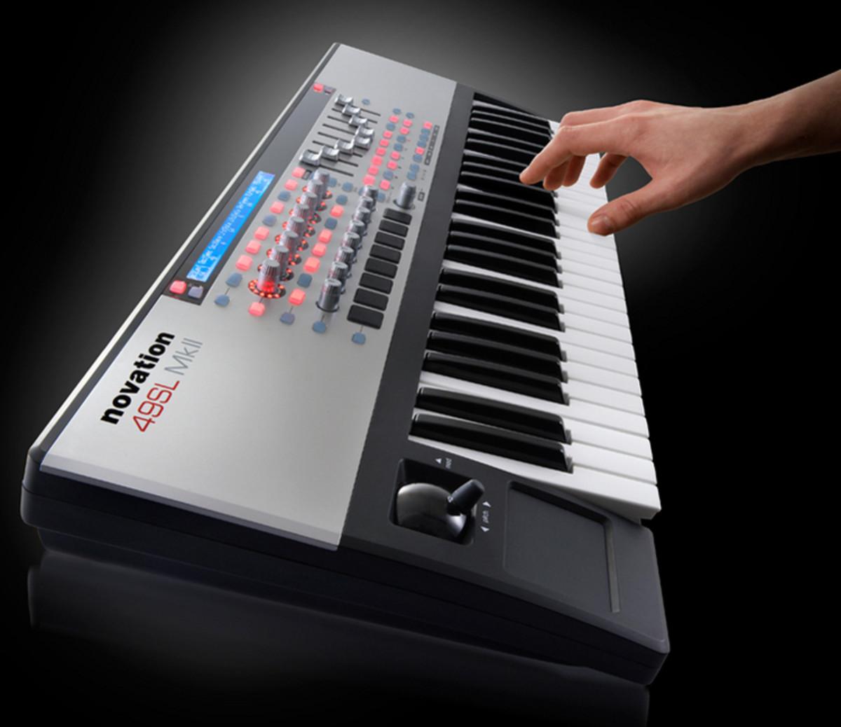 novation 49 sl mk2 midi controller keyboard at gear4music. Black Bedroom Furniture Sets. Home Design Ideas