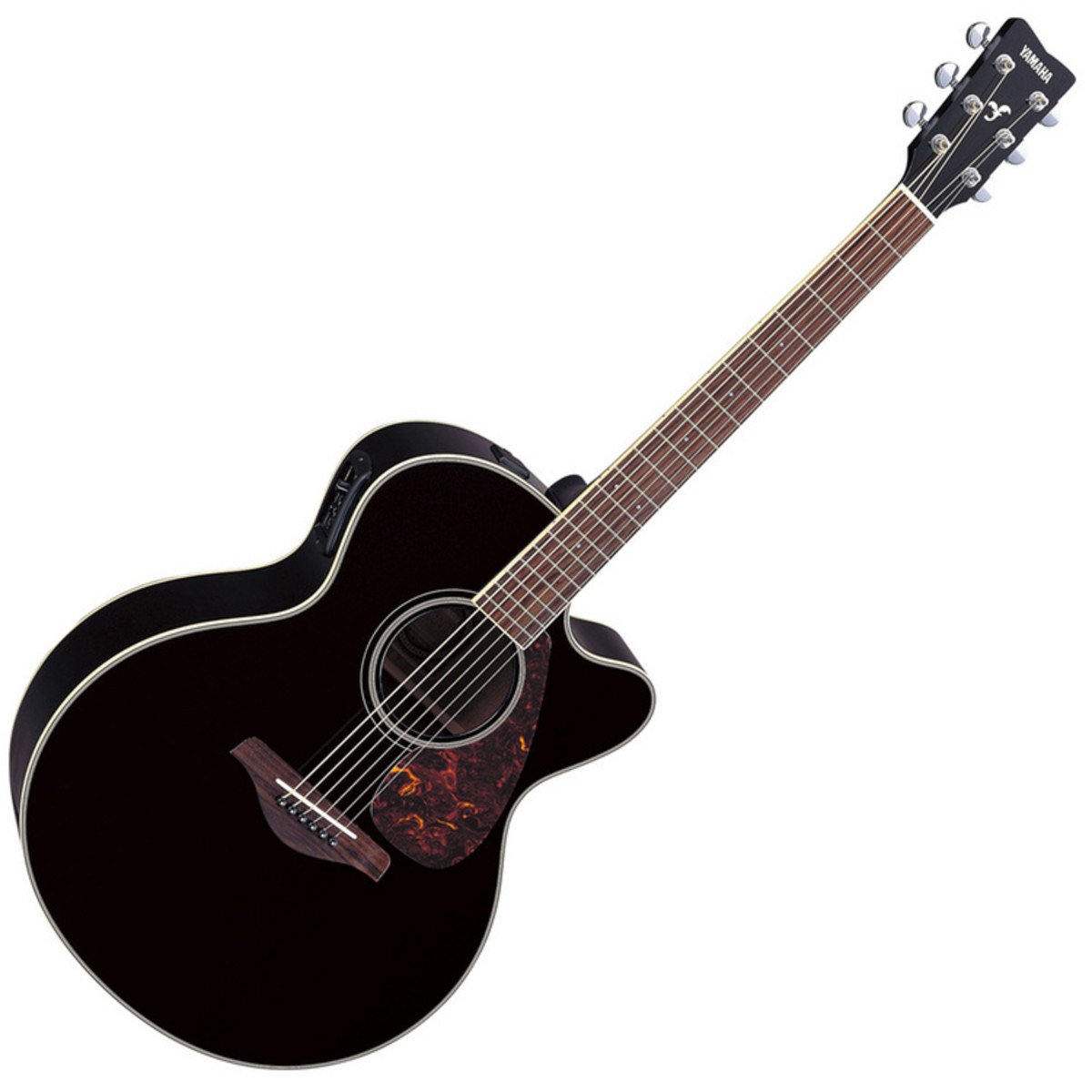 Yamaha fjx720sc electro acoustic guitar black at for Acoustic yamaha guitar