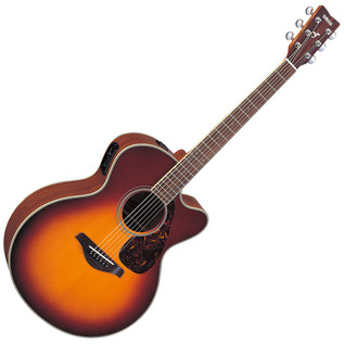 Yamaha FJX720SC Electro Acoustic Guitar, Brown Sunburst