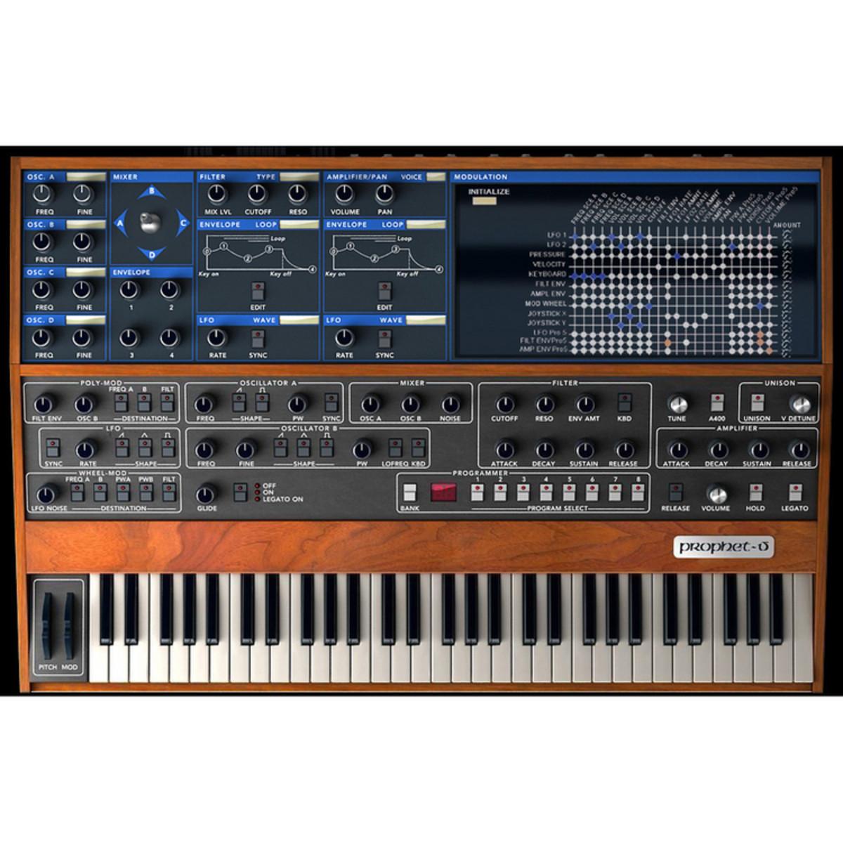 arturia prophet v software synthesizer at gear4music. Black Bedroom Furniture Sets. Home Design Ideas