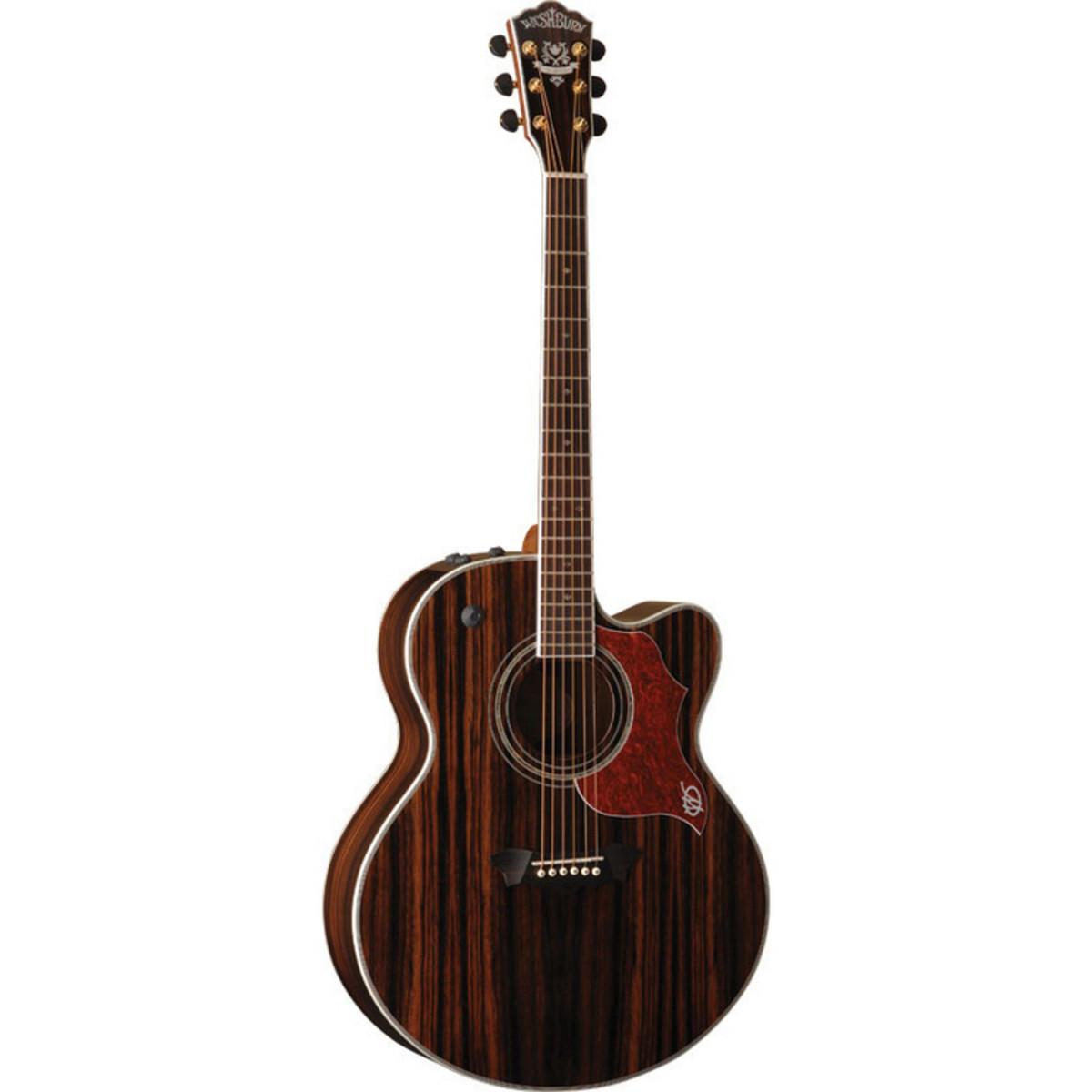 Washburn J27CE Jumbo Electro-Acoustic Guitar, Java Ebony ...