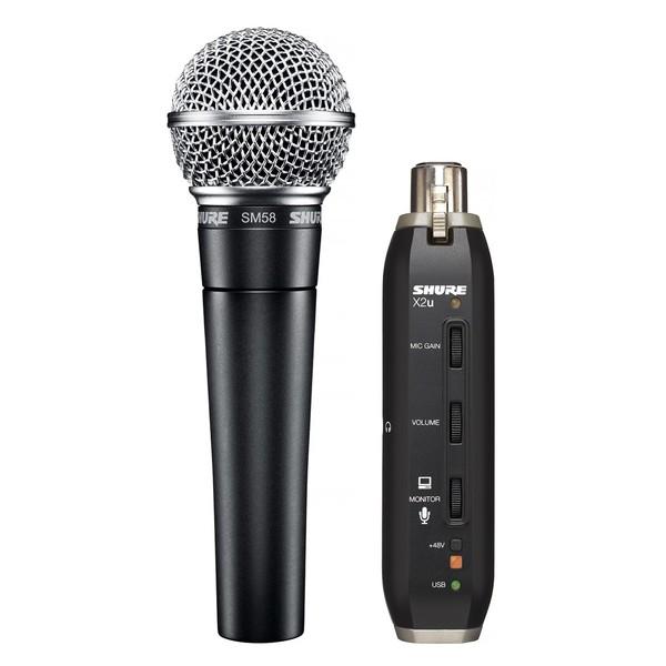 Shure SM58 + X2u Dynamic Microphone Digital Bundle