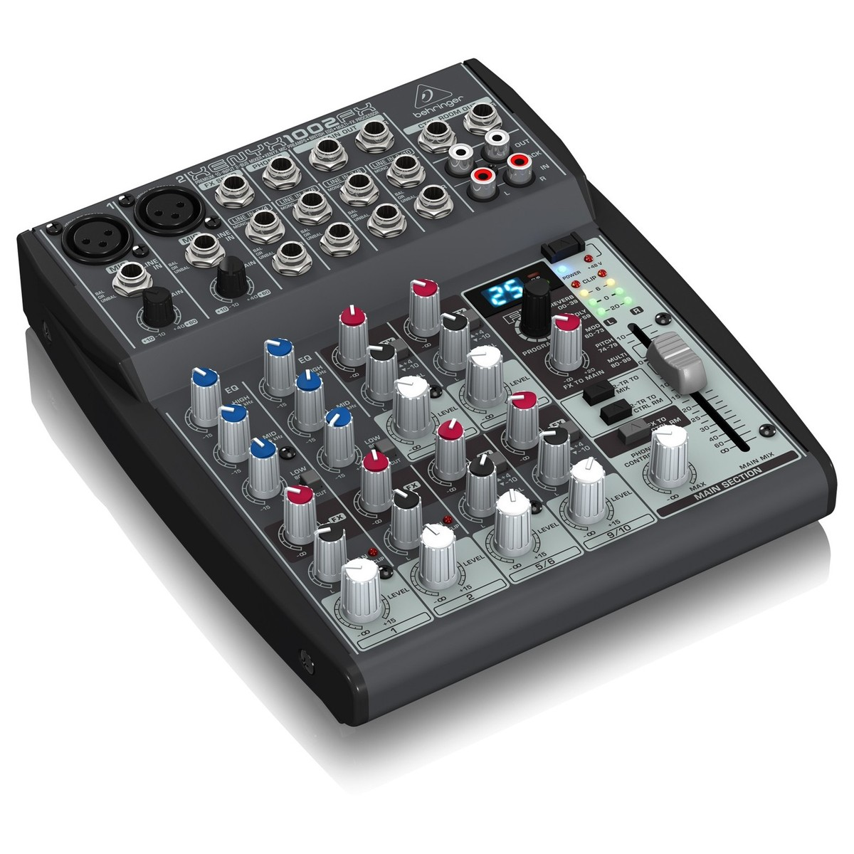 Behringer xenyx 1002fx table de mixage gear4music - Table de mixage behringer ...