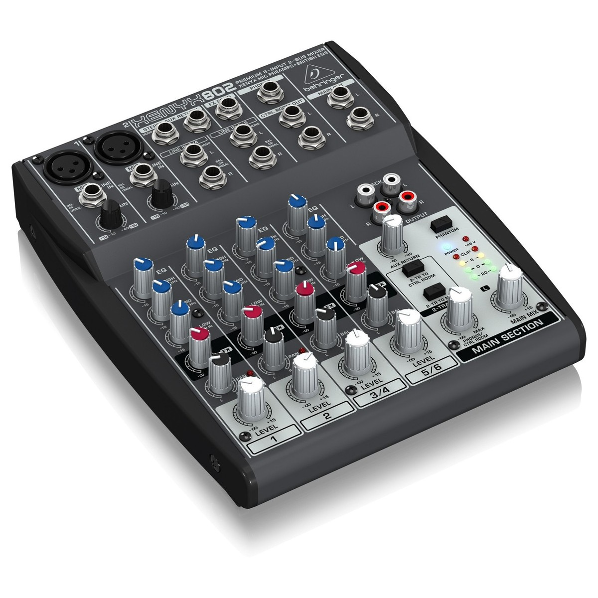 Behringer xenyx 802 table de mixage gear4music - Table de mixage behringer ...