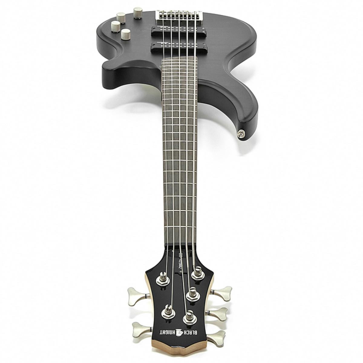 black knight cb 12 5 string bass guitar black satin at gear4music. Black Bedroom Furniture Sets. Home Design Ideas