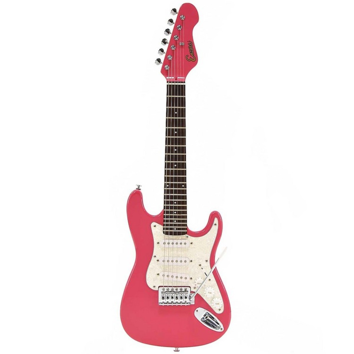 discontinued encore kc375 3 4 size electric guitar pink at gear4music. Black Bedroom Furniture Sets. Home Design Ideas