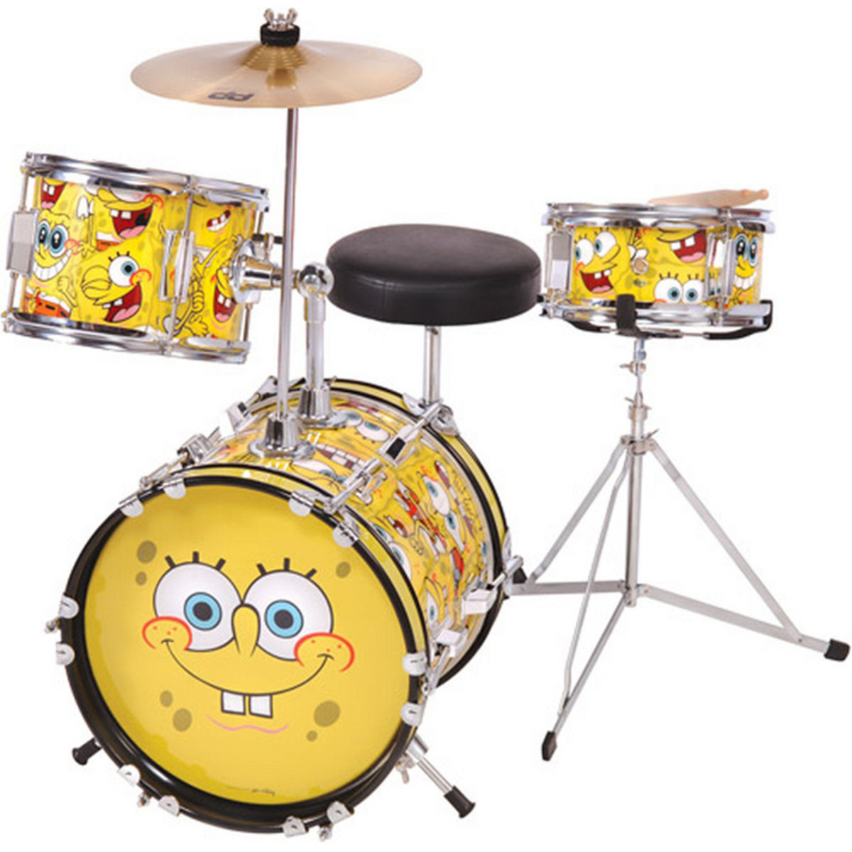 Disc Spongebob Squarepants 3 Piece Junior Drum Kit At