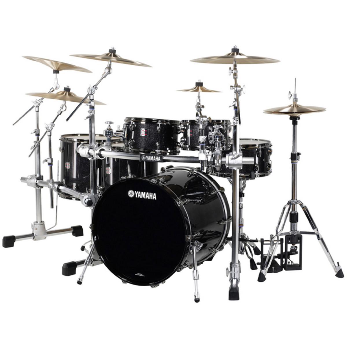 Discontinued yamaha oak custom x 5 piece shell kit black for Yamaha dtx450k 5 piece electronic drum kit