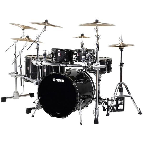discontinued yamaha oak custom x 5 piece shell kit black sparkle at gear4music. Black Bedroom Furniture Sets. Home Design Ideas