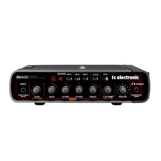TC Electronic RebelHead RH450 Bass Amp Head 2.0- Front