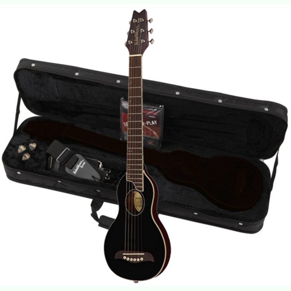 disc washburn rover ro10 travel acoustic guitar black at. Black Bedroom Furniture Sets. Home Design Ideas