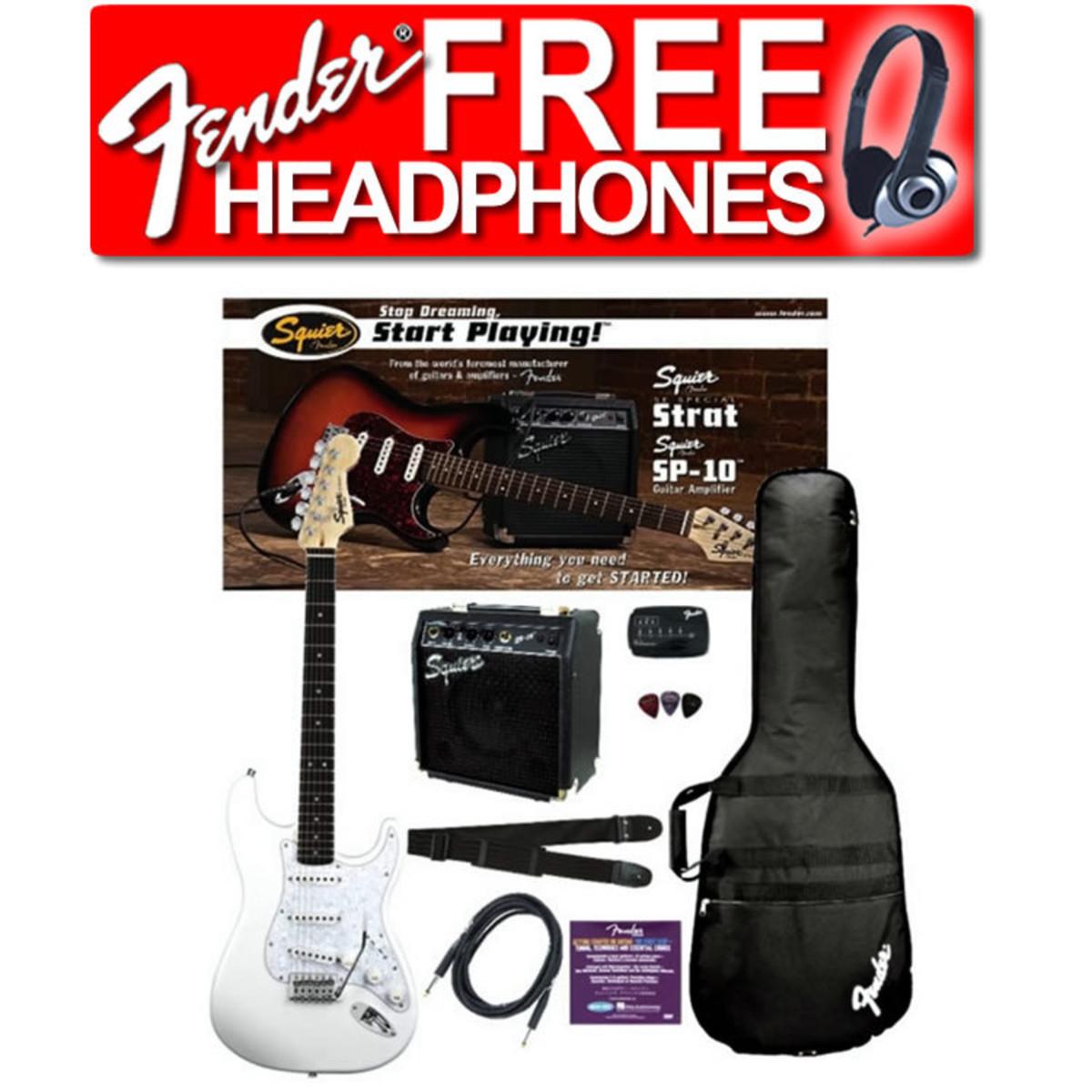 Squier by Fender SE Special Strat + SP10 Verstärker Set -weiß bei ...