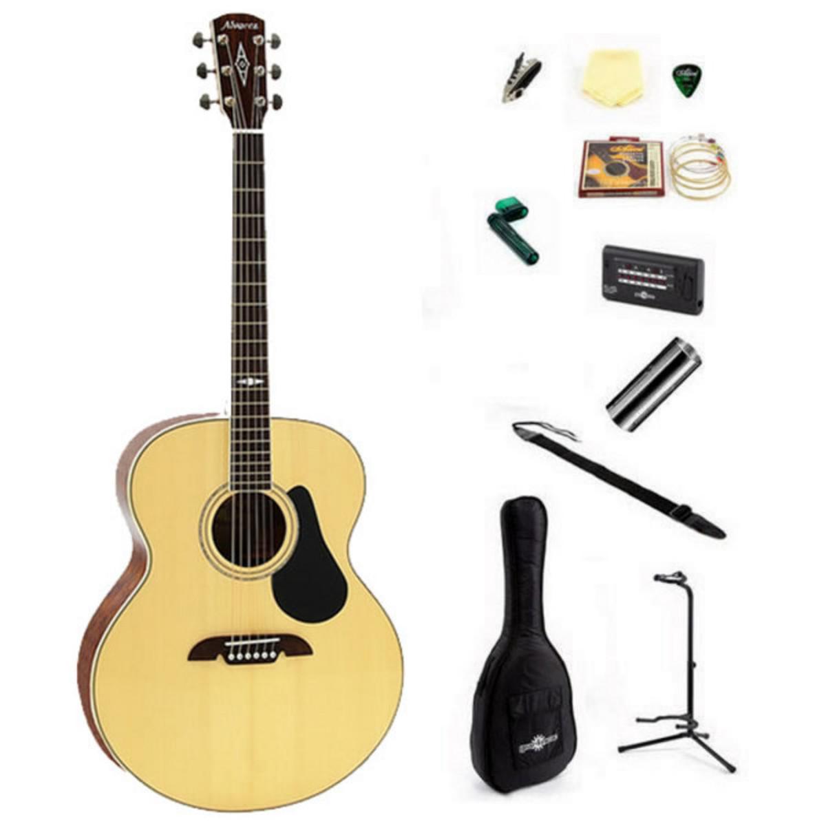 Alvarez AJ417 Jumbo Acoustic Guitar + Perfect Ten Pack At