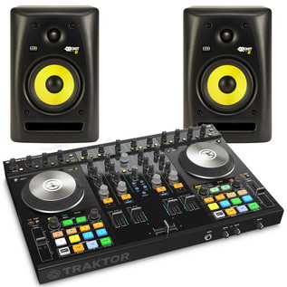 Native Instruments Traktor Kontrol S4 MK2 + KRK RP8 Bundle