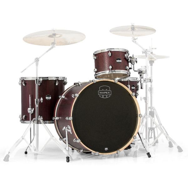 Mapex Mars 24'' Big Beat 4 Piece Shell Pack, Bloodwood