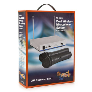 Dual Wireless Microphone System by Gear4music