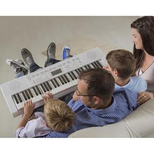Casio LK-247 61 Key Lighting Keyboard, White, Gear4music Exclusive!