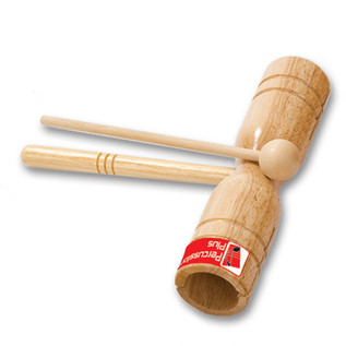 Percussion Plus Block Two Tone Wooden with Beater