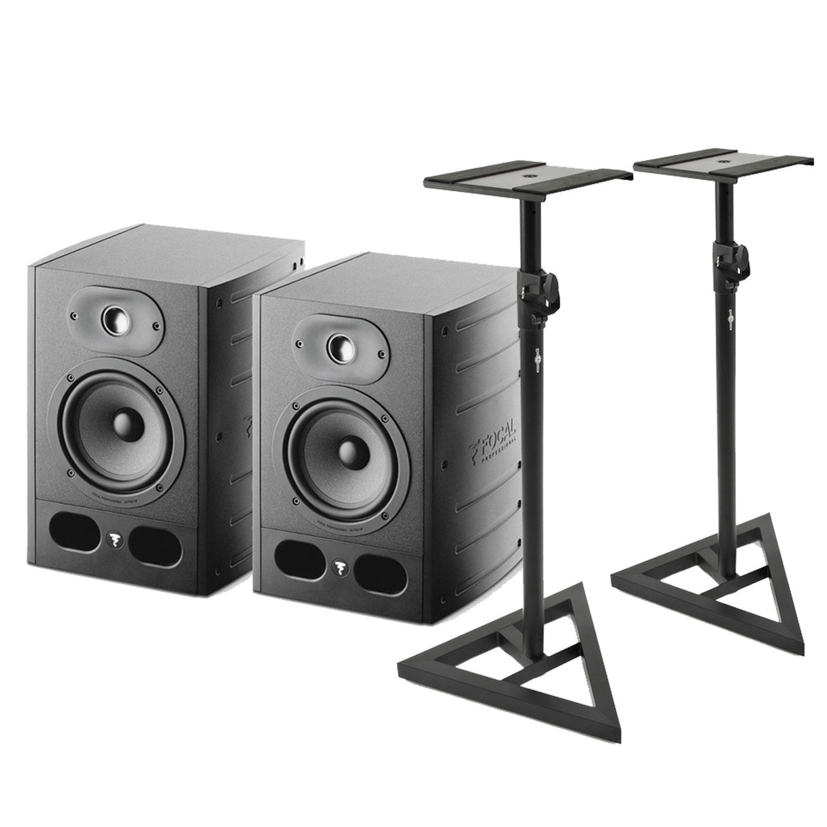 focal alpha 50 active studio monitors pair includes stands at gear4music. Black Bedroom Furniture Sets. Home Design Ideas