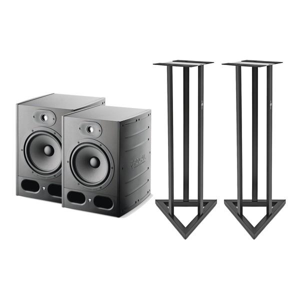 Focal Alpha 80 Active Studio Monitors (Pair) Including Stands