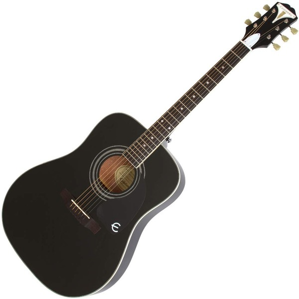 Epiphone Pro-1 PLUS Acoustic Guitar for Beginners, Black