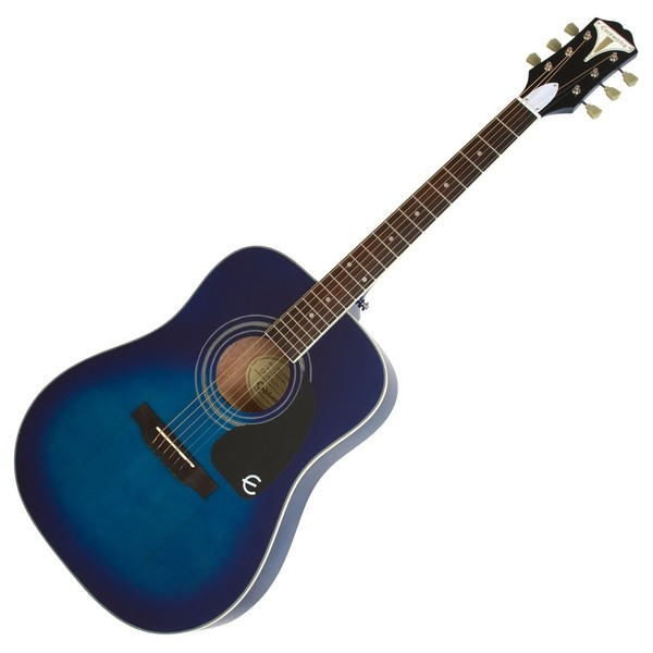 Epiphone Pro-1 PLUS Acoustic Guitar for Beginners, Trans Blue