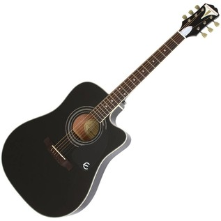Epiphone Pro-1 ULTRA Electro-Acoustic Guitar for Beginners, Black