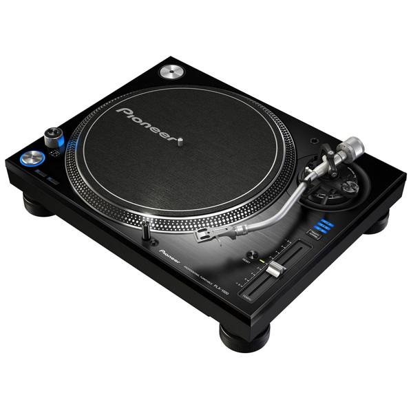 Pioneer PLX-1000 Analog DJ Turntable - Angled