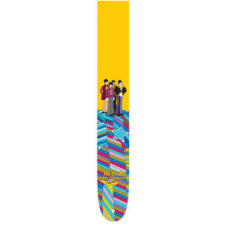 Perri's 6081 The Beatles 2.5'' Guitar Strap, Yellow Multi