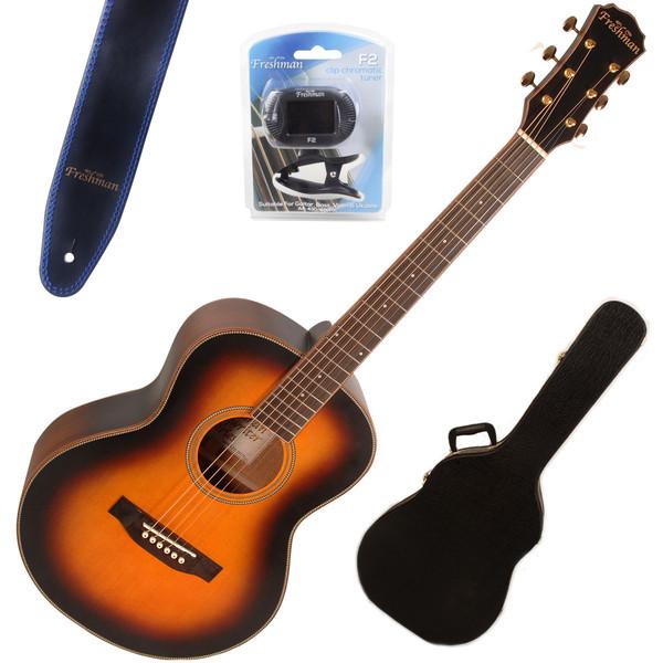Freshman Songwriter Traveller Guitar, Tobacco Sunburst