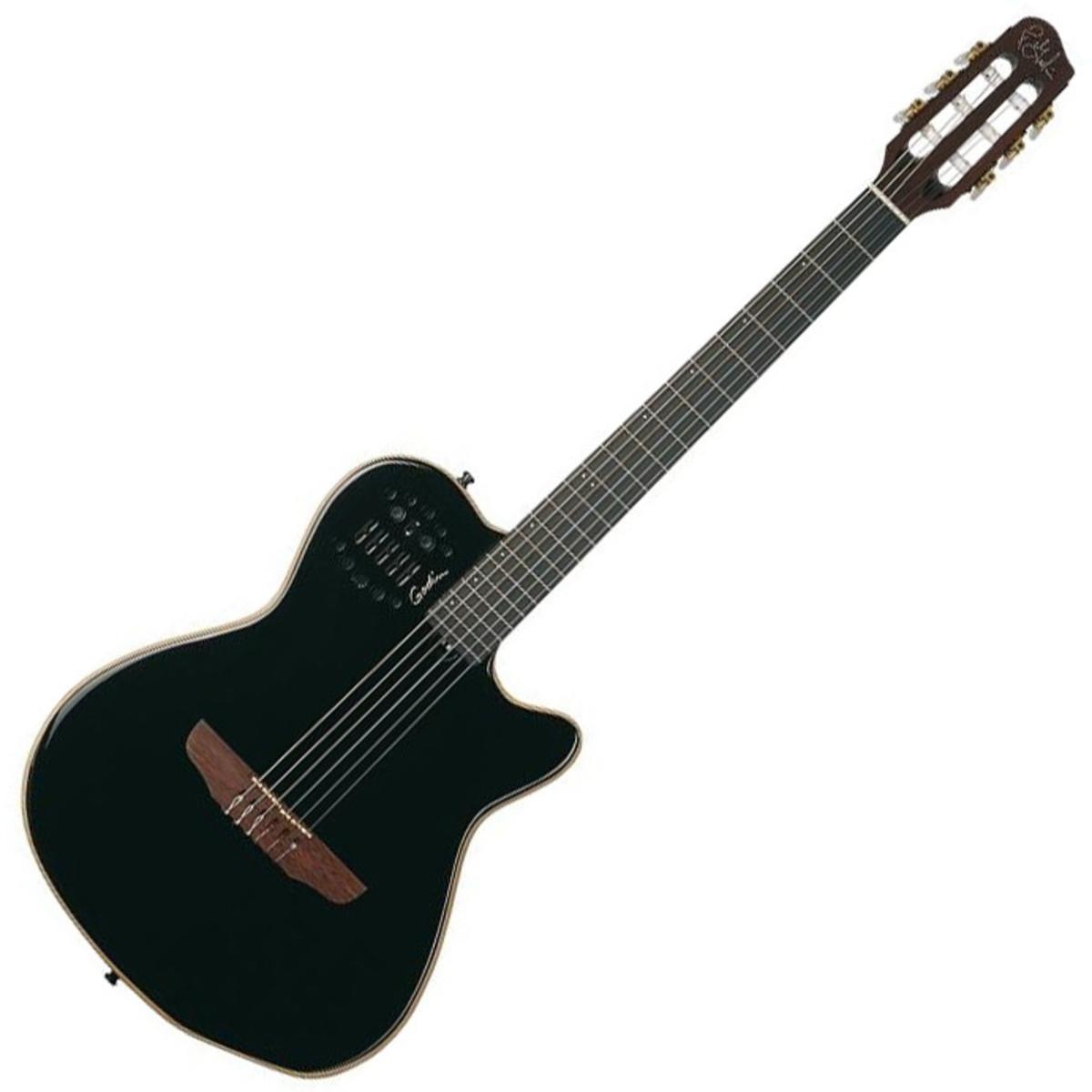 Godin Acs Sa Nylon Acoustic Guitar With Synth Access Black At Electronics Dstevensdesign Pearl Loading Zoom