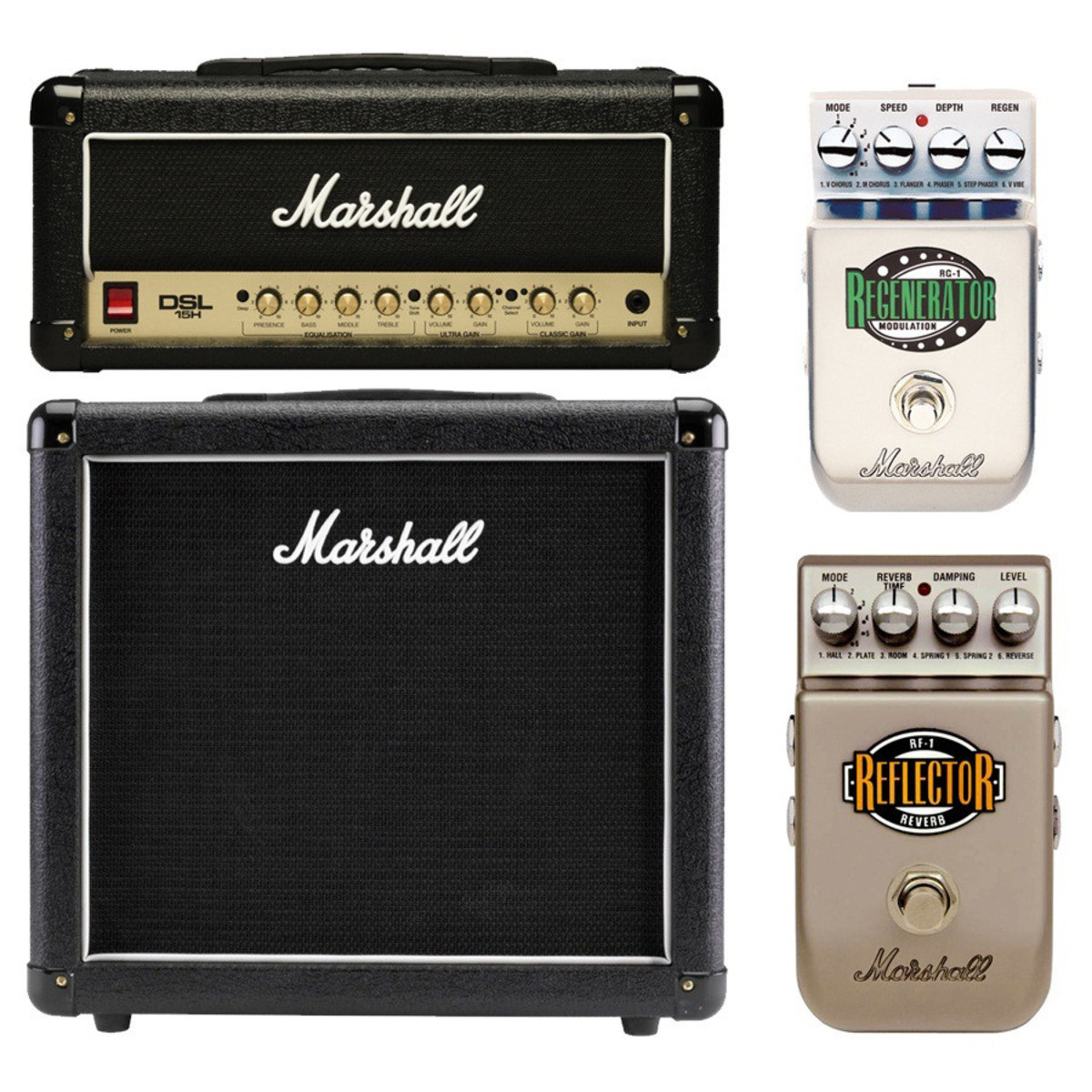 marshall dsl15h mini stack with free pedals at gear4music. Black Bedroom Furniture Sets. Home Design Ideas
