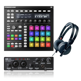 Native Instruments Maschine MK2 with UR22 Interface and Headphones