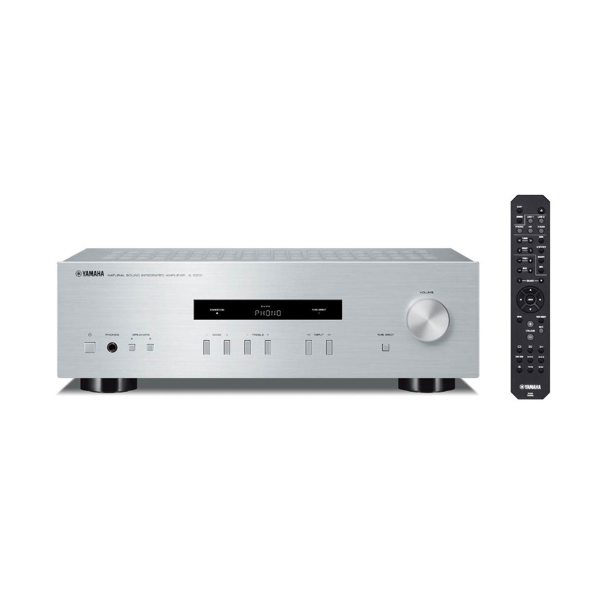 Yamaha As201 Integrated Hifi Ampliifier Silver
