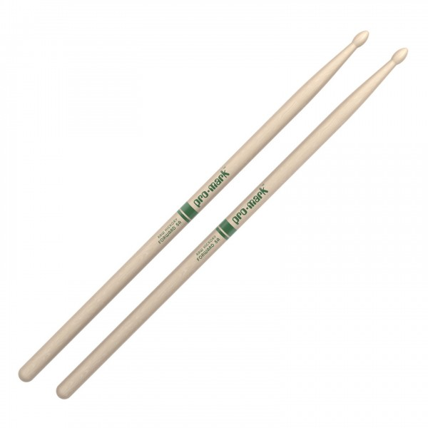 Promark Classic Forward 5A Raw Hickory Drumsticks, Wood Tip