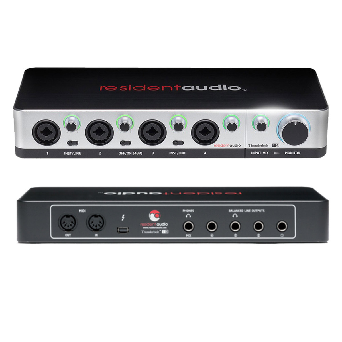 resident audio t4 thunderbolt audio interface at gear4music. Black Bedroom Furniture Sets. Home Design Ideas