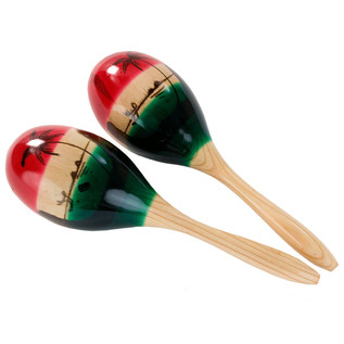 Percussion Plus PP219 Tricolour Maracas, Large
